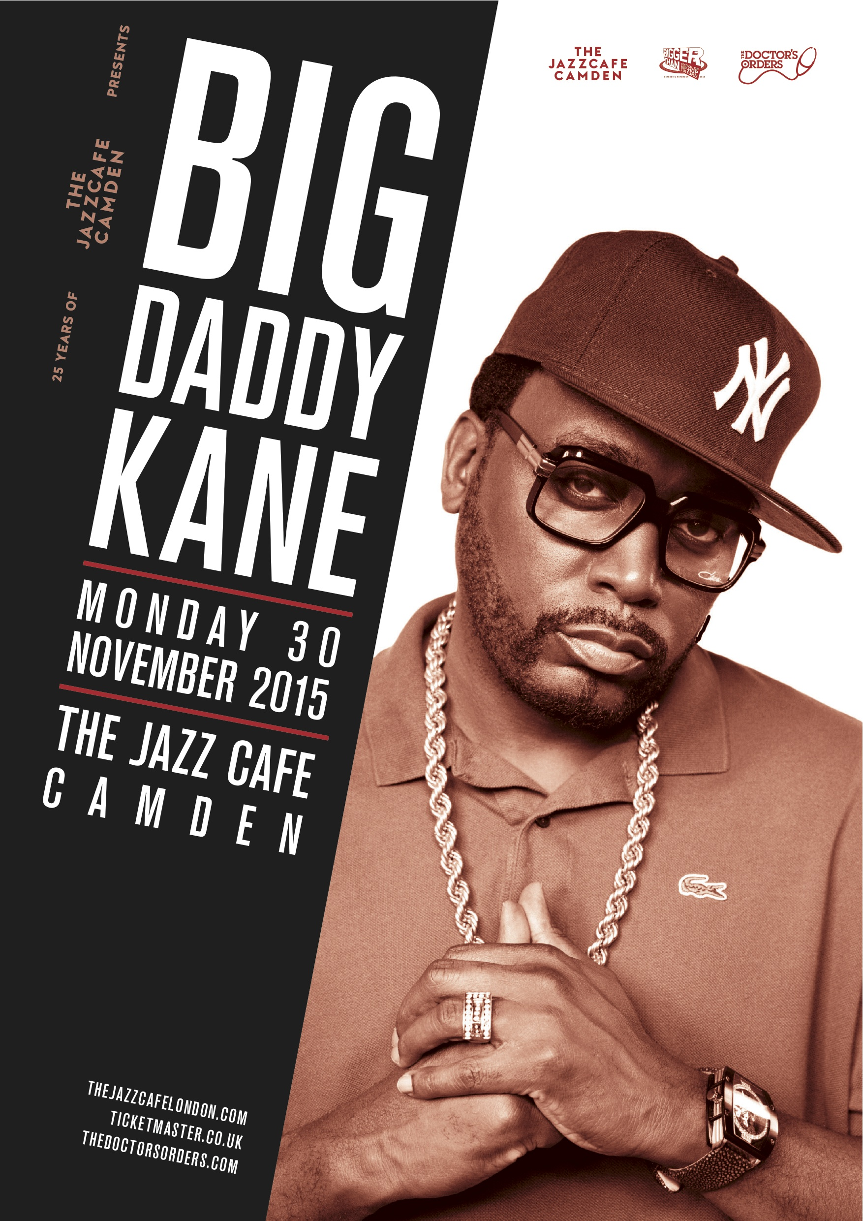 BigDaddyKane_JazzCafe_30Nov_A3Alternate